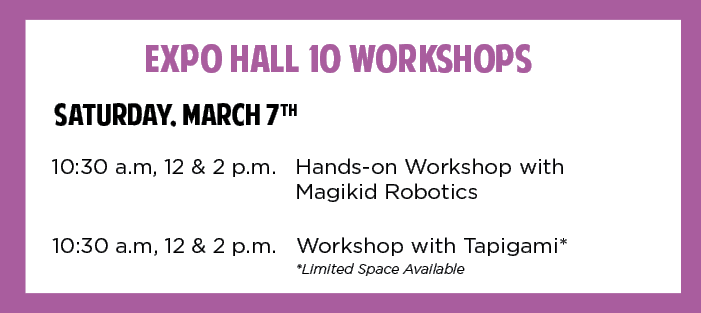ExpHall 10 Workshops Schedule for STEA2M Fair 2020