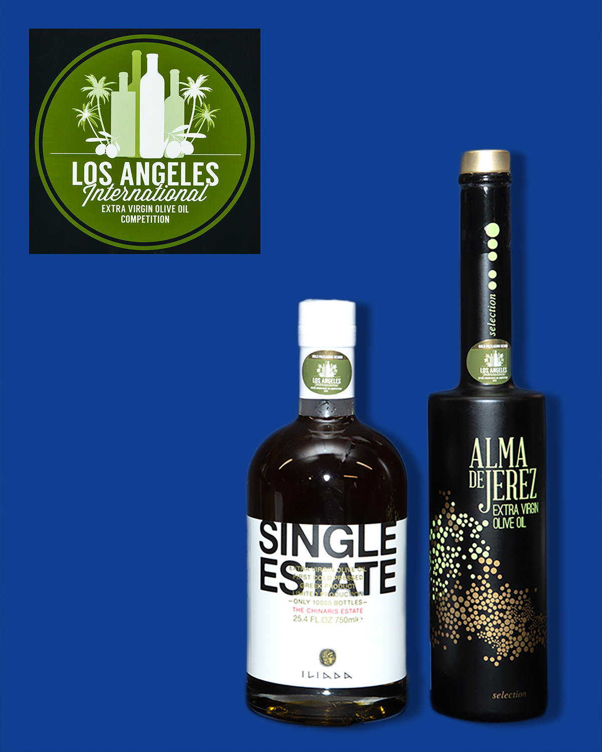 2019 LA International Olive Oil Gold Packaging - Color & Type
