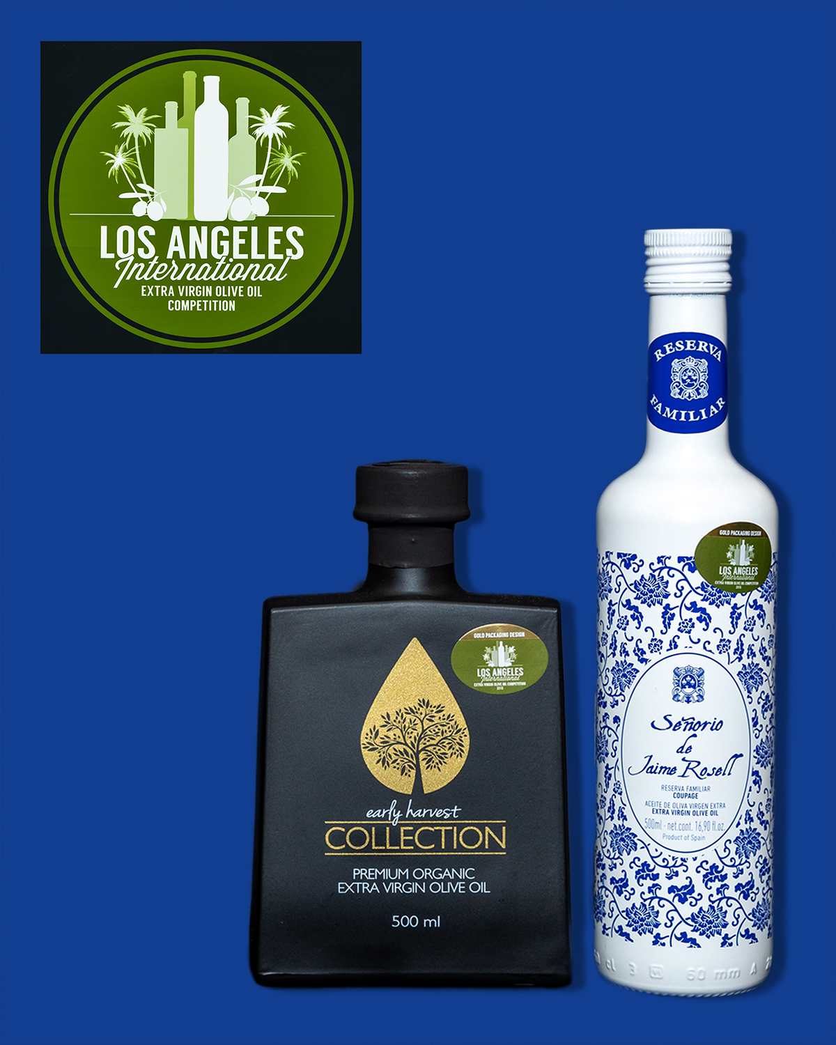 2019 LA International Olive Oil Gold Packaging - Contemporary