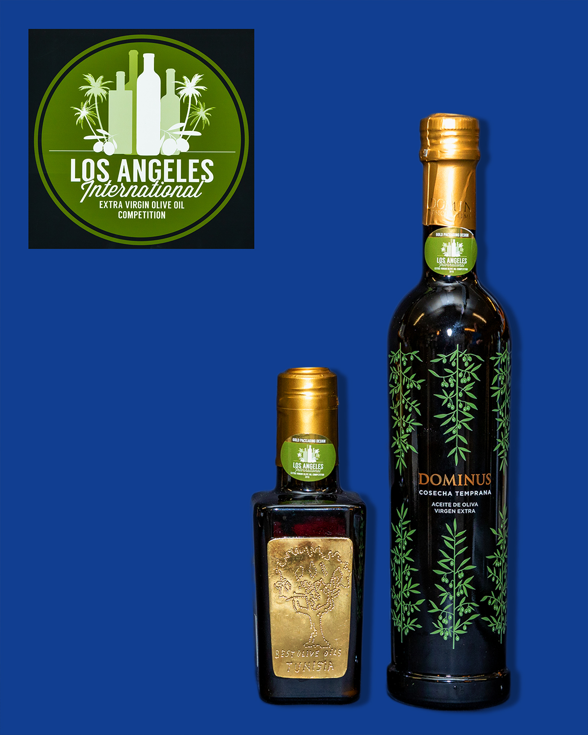 2019 LA International Olive Oil Gold Packaging Design