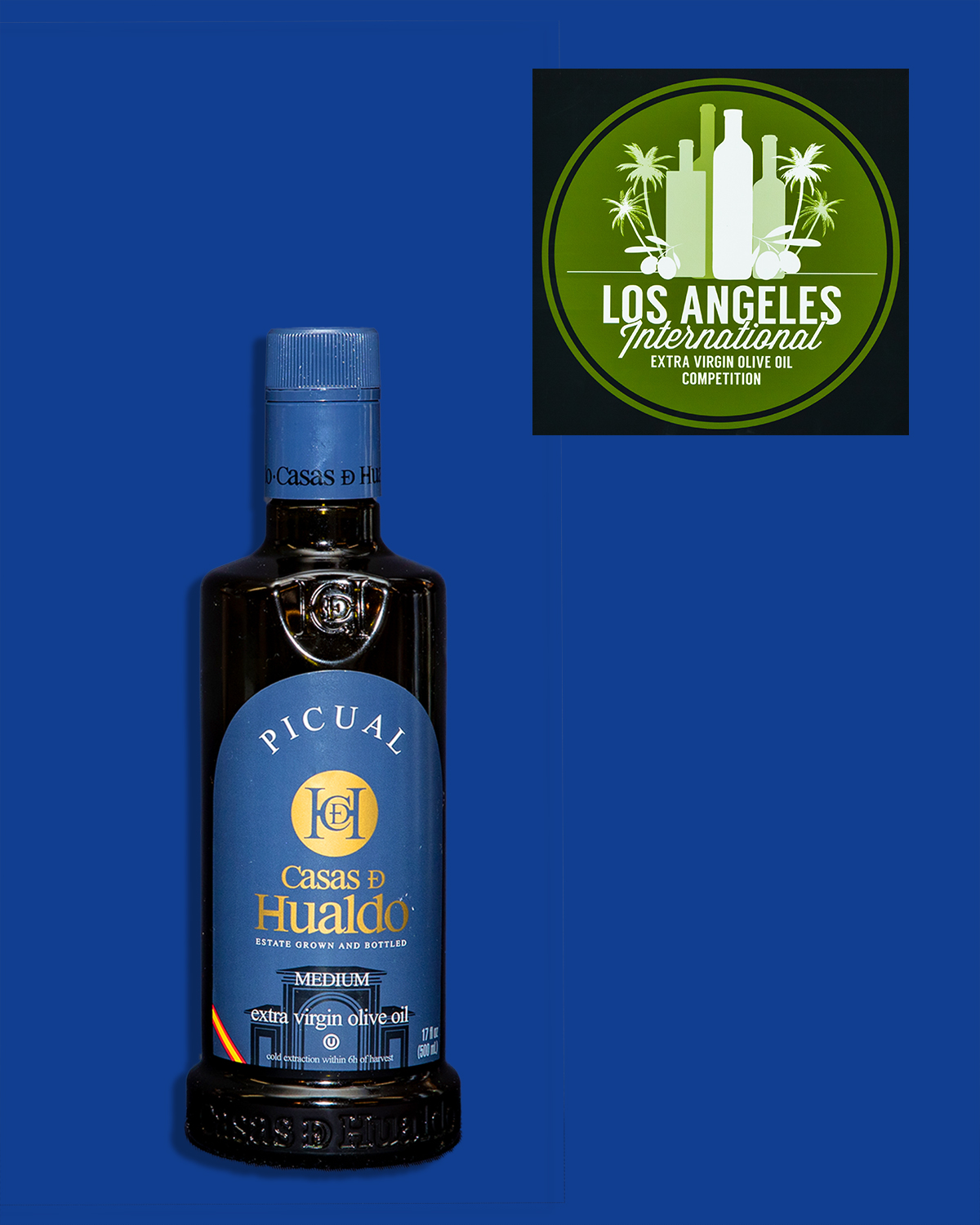 Risultati immagini per Casas De Hualdo, Picual Los Angeles International Extra Virgin Olive Oil Competition 2019