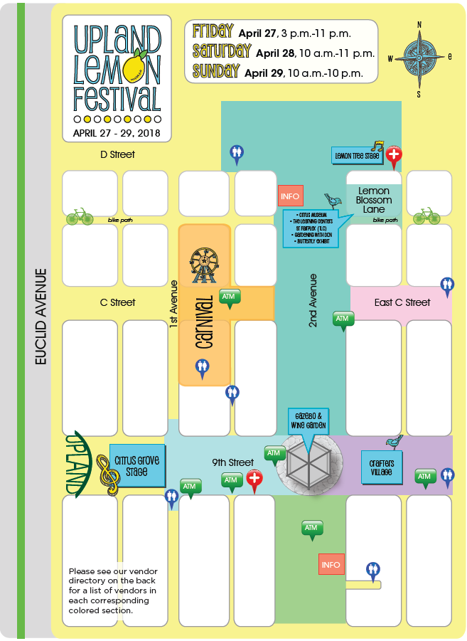 Upland Lemon Festival 2018 Map